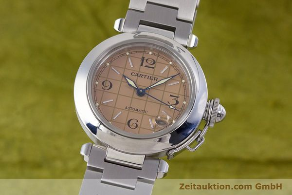Used luxury watch Cartier Pasha steel automatic Kal. 049 ETA 2892A2 Ref. 2324  | 160221 04