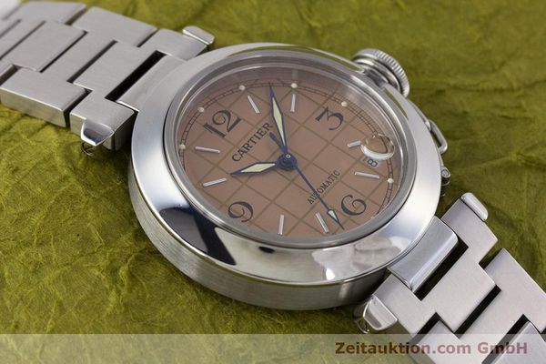 Used luxury watch Cartier Pasha steel automatic Kal. 049 ETA 2892A2 Ref. 2324  | 160221 14