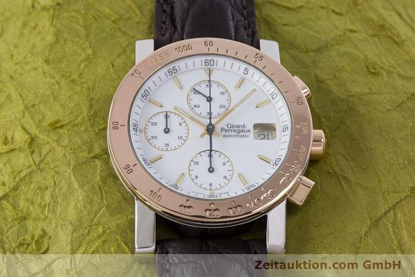 Used luxury watch Girard Perregaux 7000 chronograph steel / gold automatic Kal. 800-414 Ref. 7000  | 160224 14