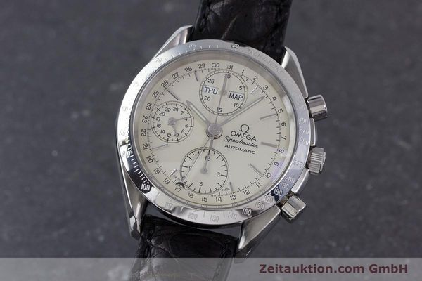 Used luxury watch Omega Speedmaster chronograph steel automatic Kal. 1150 Valj. 7750  | 160225 04