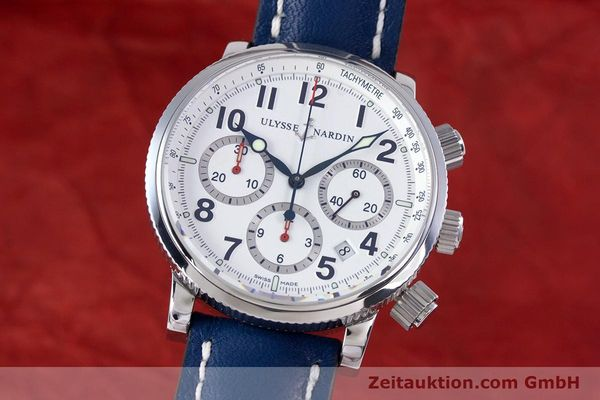 Used luxury watch Ulysse Nardin Marine Chronograph chronograph steel automatic Kal. UN-35-16-2129 Ref. 353-88  | 160234 04