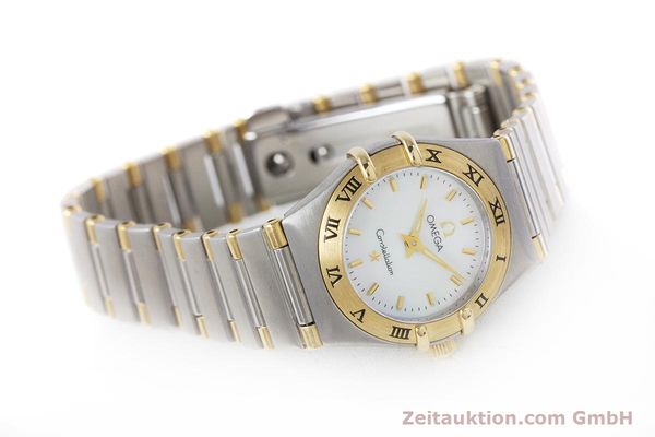 Used luxury watch Omega Constellation steel / gold quartz Kal. 1456 Ref. 13627000  | 160249 03