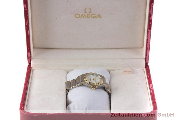 Used luxury watch Omega Constellation steel / gold quartz Kal. 1456 Ref. 13627000  | 160249 07
