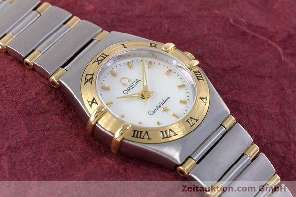 Used luxury watch Omega Constellation steel / gold quartz Kal. 1456 Ref. 13627000  | 160249 14
