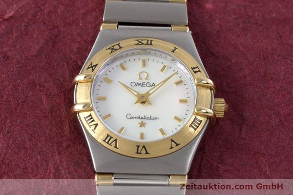 Used luxury watch Omega Constellation steel / gold quartz Kal. 1456 Ref. 13627000  | 160249 15