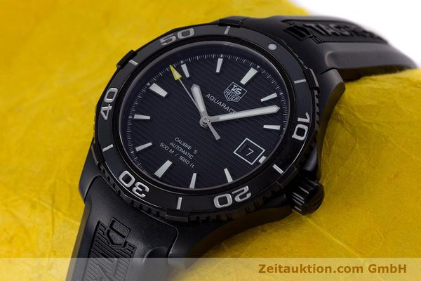 Used luxury watch Tag Heuer Aquaracer ceramic / titanium automatic Kal. 5 Sellita SW200-1 Ref. WAK2180  | 160267 01