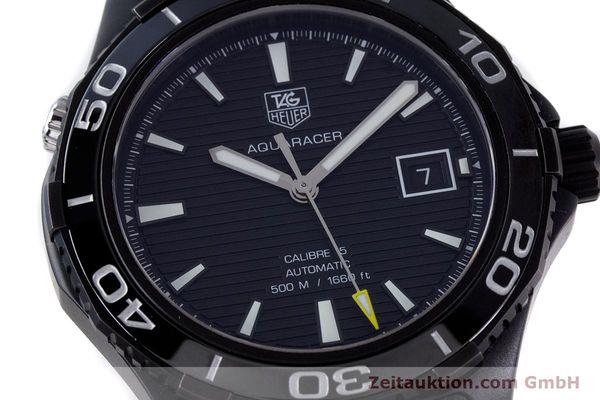 Used luxury watch Tag Heuer Aquaracer ceramic / titanium automatic Kal. 5 Sellita SW200-1 Ref. WAK2180  | 160267 02