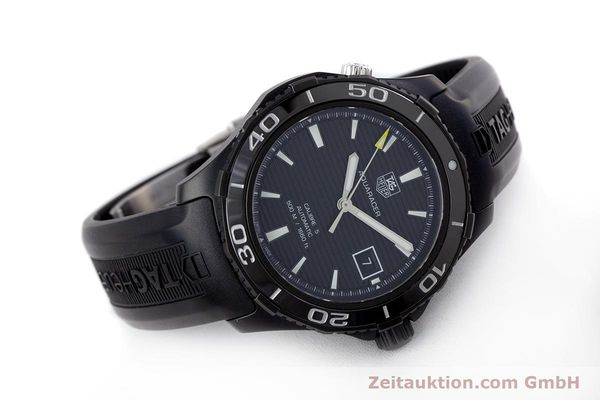 Used luxury watch Tag Heuer Aquaracer ceramic / titanium automatic Kal. 5 Sellita SW200-1 Ref. WAK2180  | 160267 03