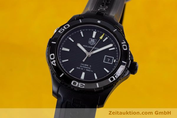 Used luxury watch Tag Heuer Aquaracer ceramic / titanium automatic Kal. 5 Sellita SW200-1 Ref. WAK2180  | 160267 04