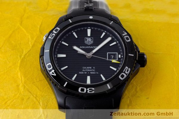Used luxury watch Tag Heuer Aquaracer ceramic / titanium automatic Kal. 5 Sellita SW200-1 Ref. WAK2180  | 160267 18