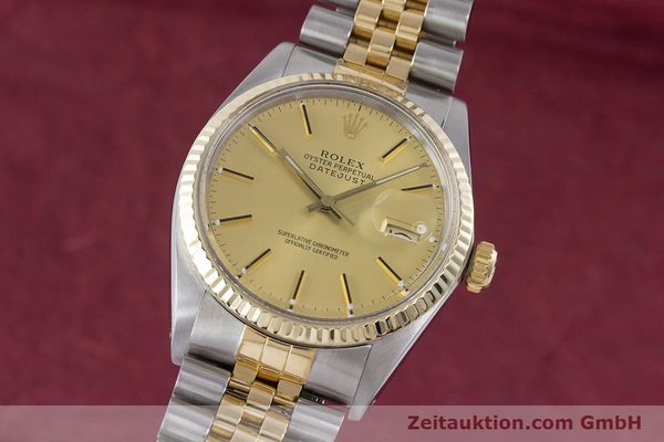Used luxury watch Rolex Datejust steel / gold automatic Kal. 3035 Ref. 16013  | 160275 04