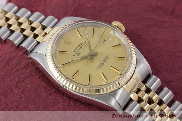 Used luxury watch Rolex Datejust steel / gold automatic Kal. 3035 Ref. 16013  | 160275 15