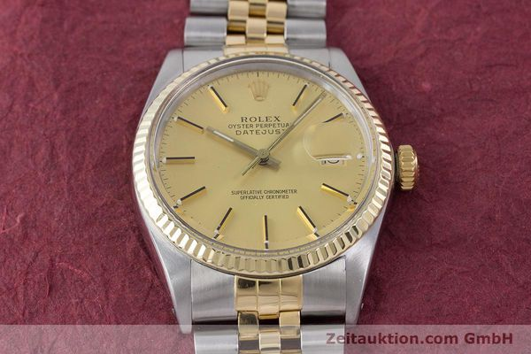 Used luxury watch Rolex Datejust steel / gold automatic Kal. 3035 Ref. 16013  | 160275 16