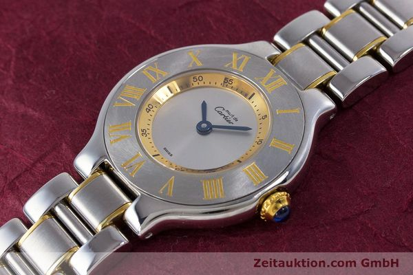 Used luxury watch Cartier Ronde Solo steel / gold quartz Kal. 90.06 Ref. 1340  | 160281 01