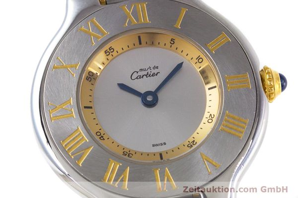 Used luxury watch Cartier Ronde Solo steel / gold quartz Kal. 90.06 Ref. 1340  | 160281 02