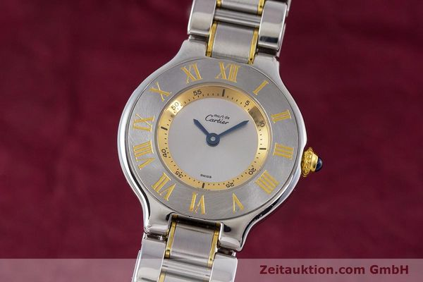 Used luxury watch Cartier Ronde Solo steel / gold quartz Kal. 90.06 Ref. 1340  | 160281 04