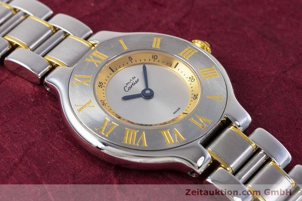 Used luxury watch Cartier Ronde Solo steel / gold quartz Kal. 90.06 Ref. 1340  | 160281 13