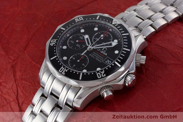 Used luxury watch Omega Seamaster chronograph steel automatic Kal. 1164  | 160296 01