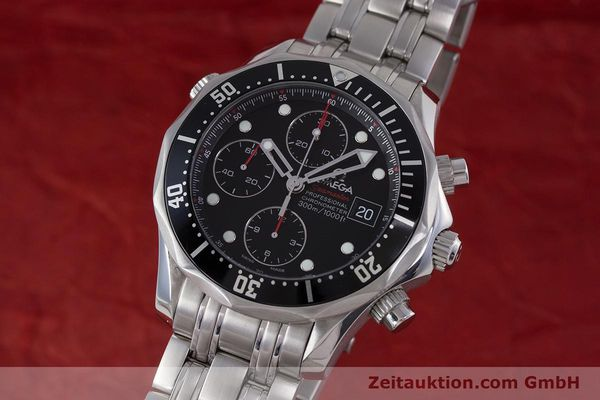 Used luxury watch Omega Seamaster chronograph steel automatic Kal. 1164  | 160296 04