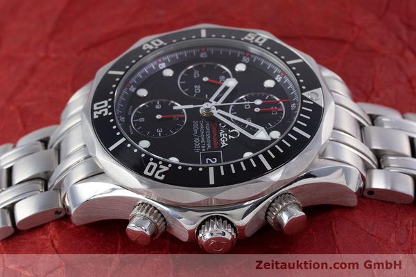Used luxury watch Omega Seamaster chronograph steel automatic Kal. 1164  | 160296 05