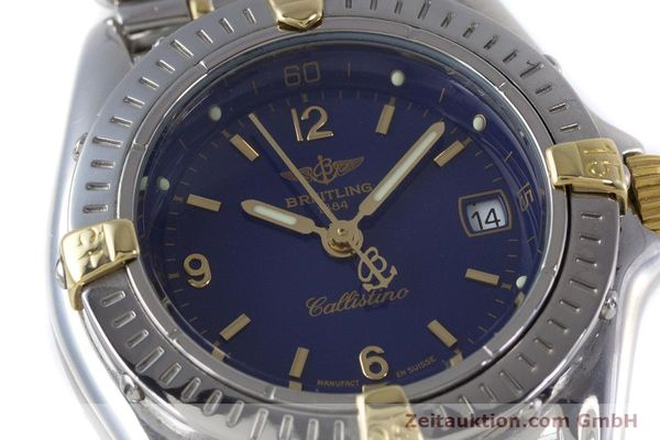 Used luxury watch Breitling Callistino steel / gold quartz Kal. B52 ETA 956112 Ref. B52045.1  | 160301 02