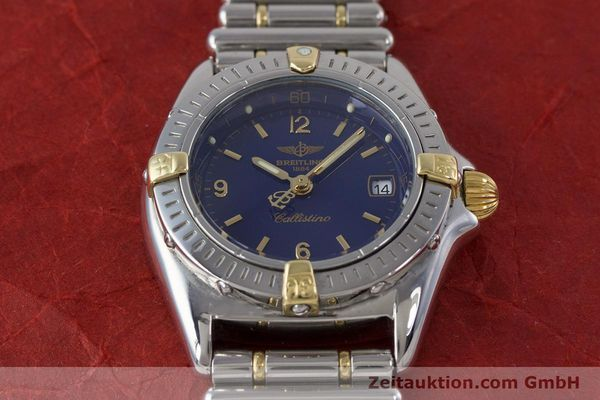 Used luxury watch Breitling Callistino steel / gold quartz Kal. B52 ETA 956112 Ref. B52045.1  | 160301 14