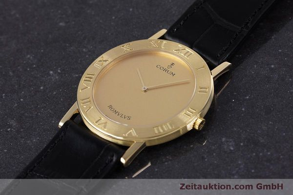 Used luxury watch Corum Romulus 18 ct gold quartz Kal. ETA 210.001 Ref. 50.501.56  | 160304 01