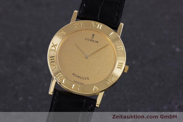 Used luxury watch Corum Romulus 18 ct gold quartz Kal. ETA 210.001 Ref. 50.501.56  | 160304 04
