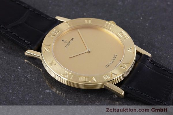 Used luxury watch Corum Romulus 18 ct gold quartz Kal. ETA 210.001 Ref. 50.501.56  | 160304 13