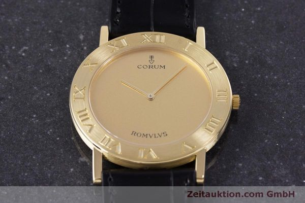 Used luxury watch Corum Romulus 18 ct gold quartz Kal. ETA 210.001 Ref. 50.501.56  | 160304 14