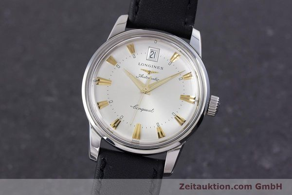 Used luxury watch Longines Conquest steel automatic Kal. L 633.5 ETA 2824-2 Ref. L1.611.4  | 160308 04