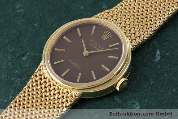 Used luxury watch Rolex Cellini 18 ct gold manual winding Kal. 1600 Ref. 4074  | 160310 01