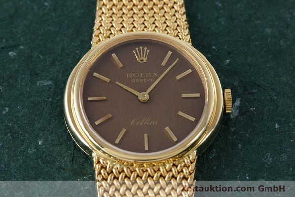 Used luxury watch Rolex Cellini 18 ct gold manual winding Kal. 1600 Ref. 4074  | 160310 16