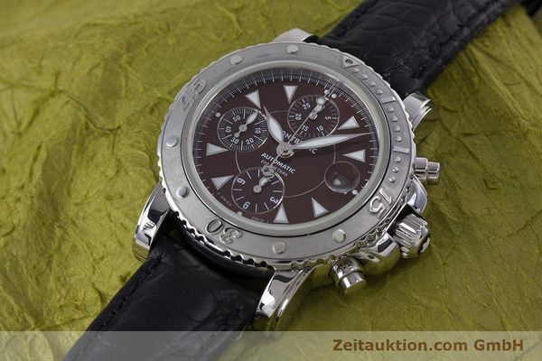 Used luxury watch Montblanc Sport Chronograph chronograph steel automatic Kal. 480501 ETA 7750 Ref. 7034  | 160315 01