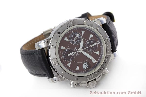 Used luxury watch Montblanc Sport Chronograph chronograph steel automatic Kal. 480501 ETA 7750 Ref. 7034  | 160315 03
