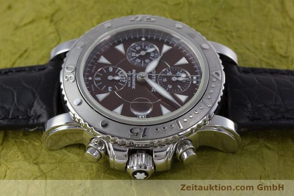 Used luxury watch Montblanc Sport Chronograph chronograph steel automatic Kal. 480501 ETA 7750 Ref. 7034  | 160315 05