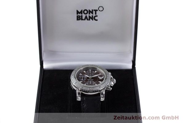 Used luxury watch Montblanc Sport Chronograph chronograph steel automatic Kal. 480501 ETA 7750 Ref. 7034  | 160315 07