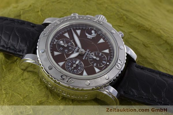 Used luxury watch Montblanc Sport Chronograph chronograph steel automatic Kal. 480501 ETA 7750 Ref. 7034  | 160315 14