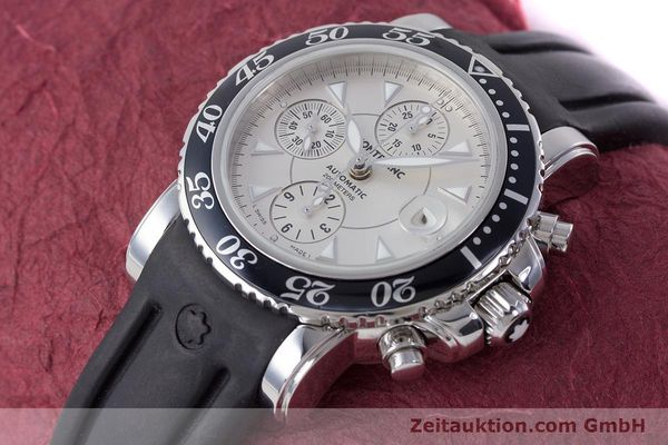 Used luxury watch Montblanc Sport Chronograph chronograph steel automatic Kal. 4810501 ETA 7750 Ref. 7034  | 160316 01