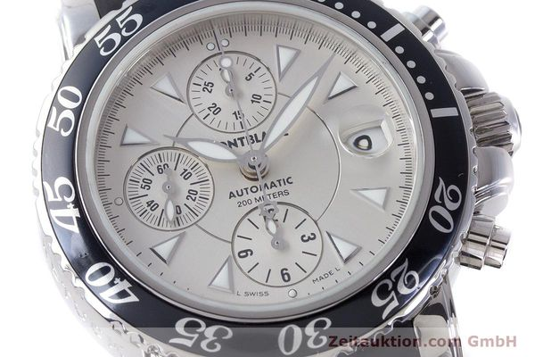 Used luxury watch Montblanc Sport Chronograph chronograph steel automatic Kal. 4810501 ETA 7750 Ref. 7034  | 160316 02