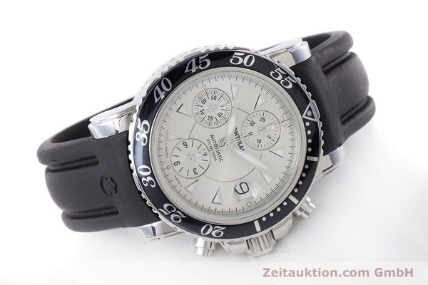Used luxury watch Montblanc Sport Chronograph chronograph steel automatic Kal. 4810501 ETA 7750 Ref. 7034  | 160316 03