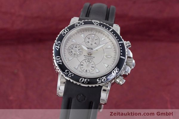 Used luxury watch Montblanc Sport Chronograph chronograph steel automatic Kal. 4810501 ETA 7750 Ref. 7034  | 160316 04