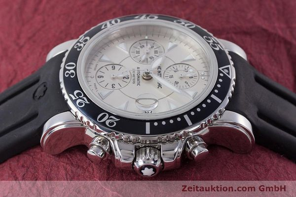 Used luxury watch Montblanc Sport Chronograph chronograph steel automatic Kal. 4810501 ETA 7750 Ref. 7034  | 160316 05