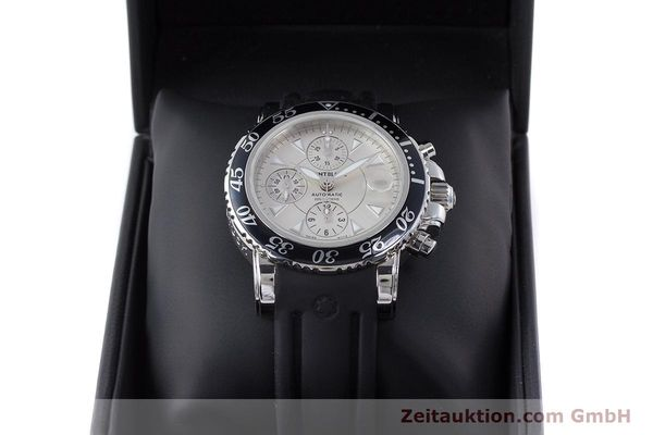 Used luxury watch Montblanc Sport Chronograph chronograph steel automatic Kal. 4810501 ETA 7750 Ref. 7034  | 160316 07