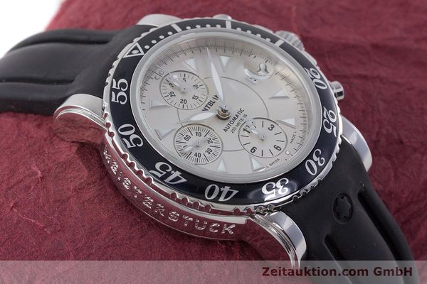 Used luxury watch Montblanc Sport Chronograph chronograph steel automatic Kal. 4810501 ETA 7750 Ref. 7034  | 160316 15
