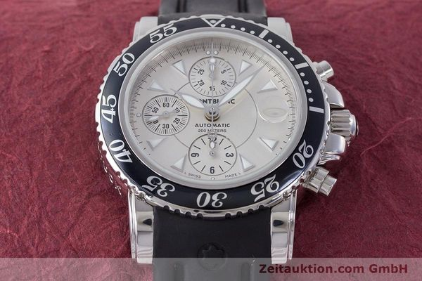Used luxury watch Montblanc Sport Chronograph chronograph steel automatic Kal. 4810501 ETA 7750 Ref. 7034  | 160316 16