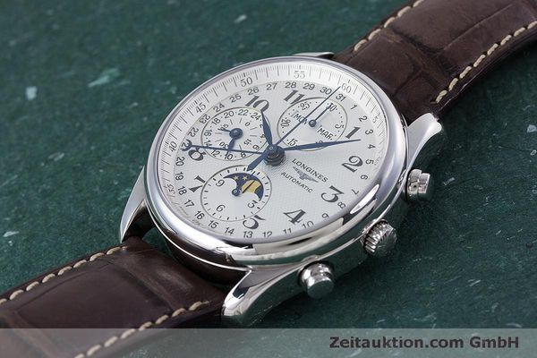 Used luxury watch Longines Master Collection chronograph steel automatic Kal. L678.2 ETA 7751 Ref. L2.673.4  | 160320 01