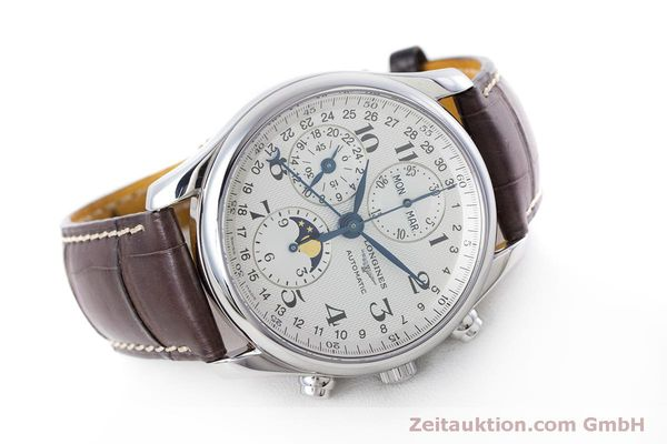Used luxury watch Longines Master Collection chronograph steel automatic Kal. L678.2 ETA 7751 Ref. L2.673.4  | 160320 03