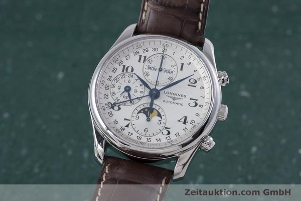 Used luxury watch Longines Master Collection chronograph steel automatic Kal. L678.2 ETA 7751 Ref. L2.673.4  | 160320 04