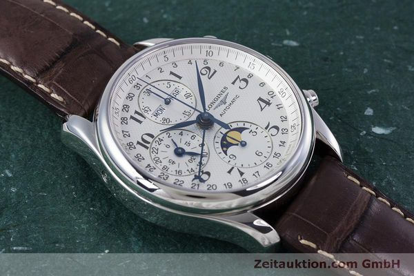 Used luxury watch Longines Master Collection chronograph steel automatic Kal. L678.2 ETA 7751 Ref. L2.673.4  | 160320 15